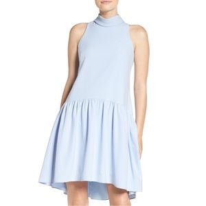 Eliza J Periwinkle Blue Drop Waist Midi Dress